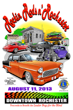 2013 Rockin Rods n Rochester Poster